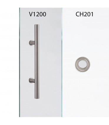 Glasschiebetür QSS063 mit verschiedenen Schiebesystemen