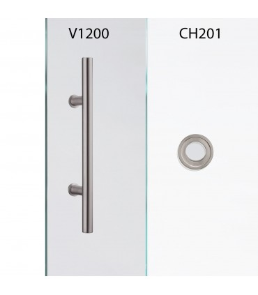 Glasschiebetür QSS066-F mit verschiedenen Schiebesystemen
