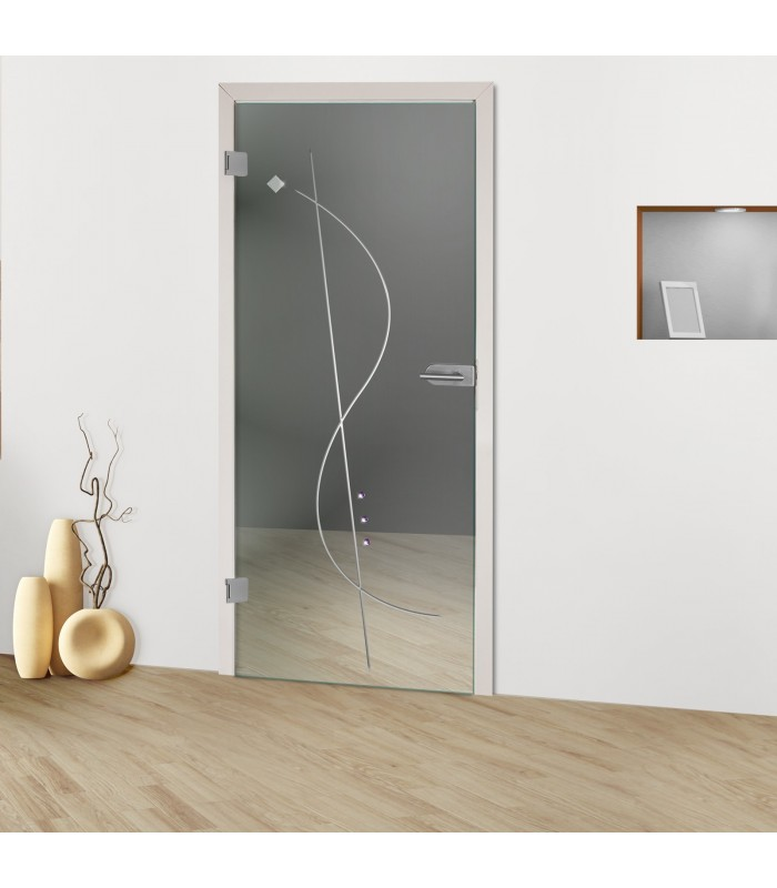 """Glastür """"Notenschlüssel 8005-F"""""""