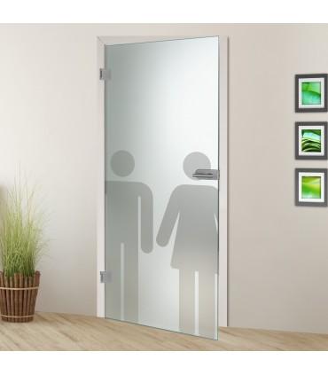 Ganzglastür DL1 WC Unisex 7019-S