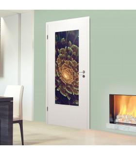 Glaseinsatz für Holztür 1002-1-LA Blume