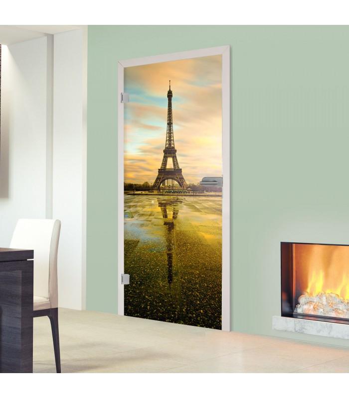 """Ganzglastür Digitaldruck 1007-1-GGT """"Eiffelturm"""""""
