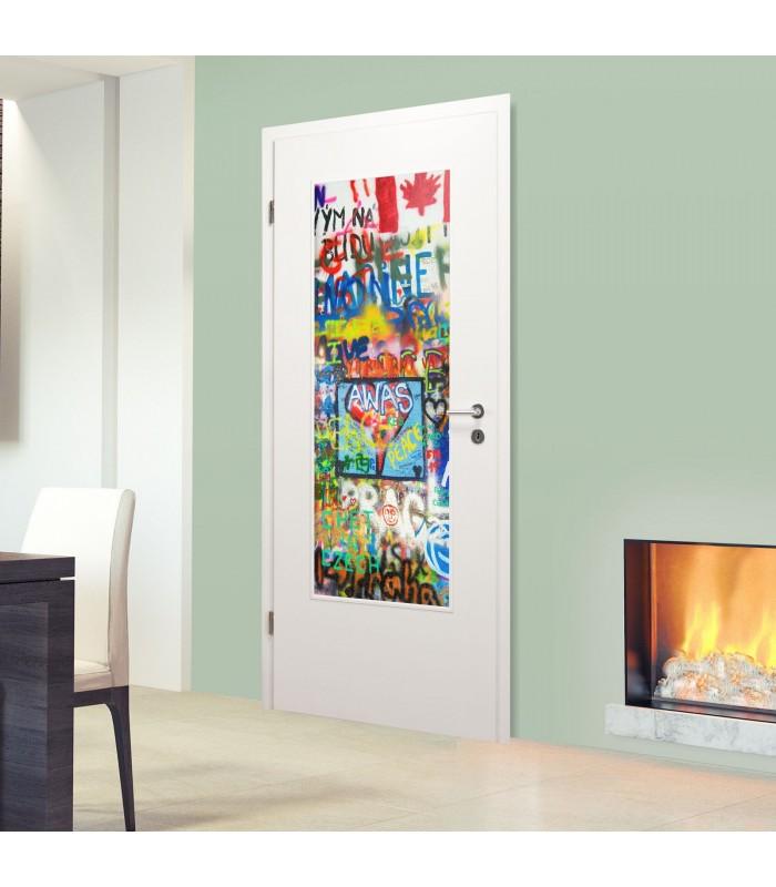 """Glaseinsatz Digitaldruck1056-3-LA """"Graffiti"""""""