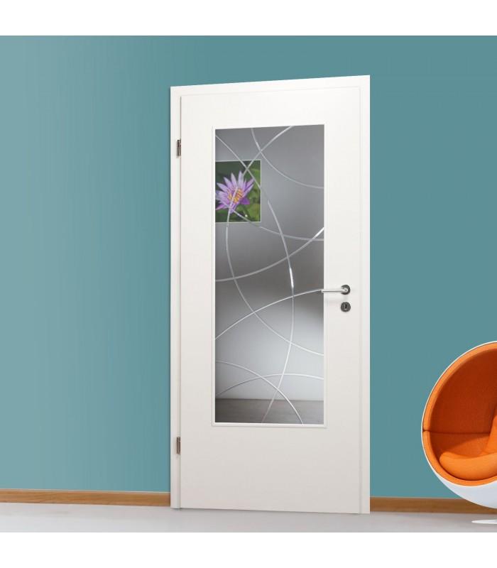 Glaseinsatz mit Dekor QSLA965-F, Klarglas