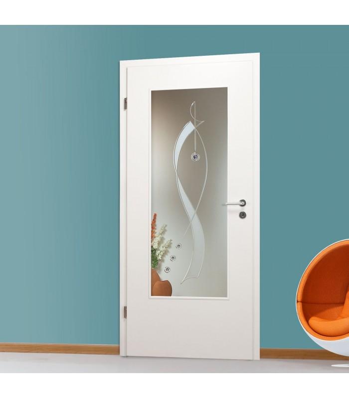glaseinsatz mit dekor qsla949 f klarglas. Black Bedroom Furniture Sets. Home Design Ideas