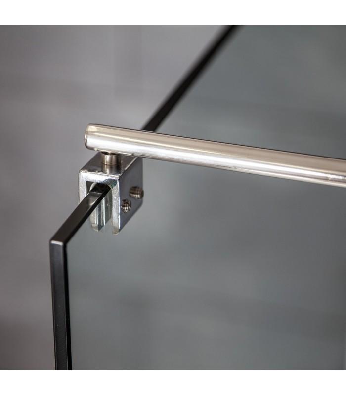Haltestange Duschwand Edelstahl verstellbar, von 80 bis 120 cm Einstiegsbreite