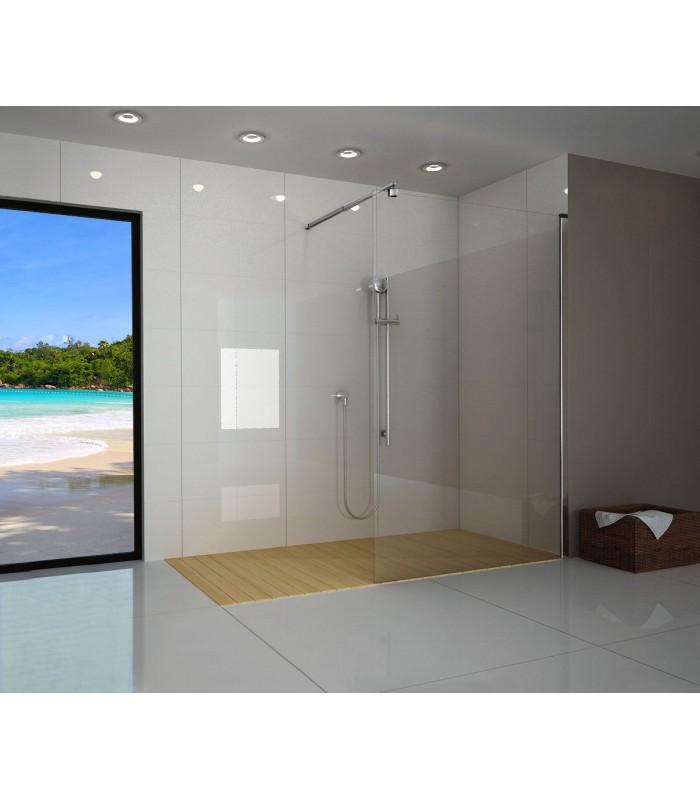 Duschwand gerade (ESG-Glas, Maß wählbar)