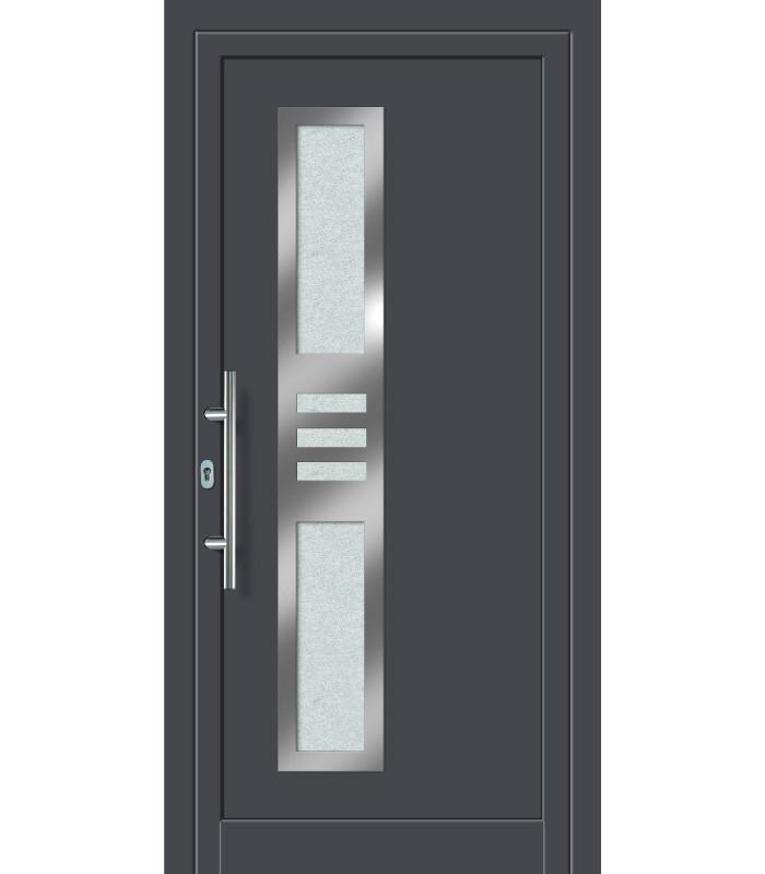 Aluminium- Haustür FDM-22 titan