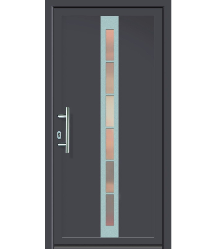 Kunststoff-Haustür FDM-20 Titan / weiß  980 x 2000 mm  Lichtausschnitt