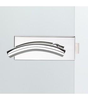 Beschlag für Ganzglasdrehtür - V500.CH.UV-LH107 - Chrom poliert