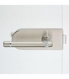 Beschlag für Ganzglasdrehtür - V200E.NI.UV-Delphi - Edelstahl matt