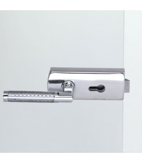 Beschlag für Ganzglasdrehtür - V600E.CH.PZ-LH080 - Chrom poliert