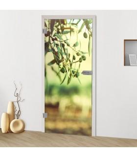 """Glastür 9001 """"Olivenbaum"""""""