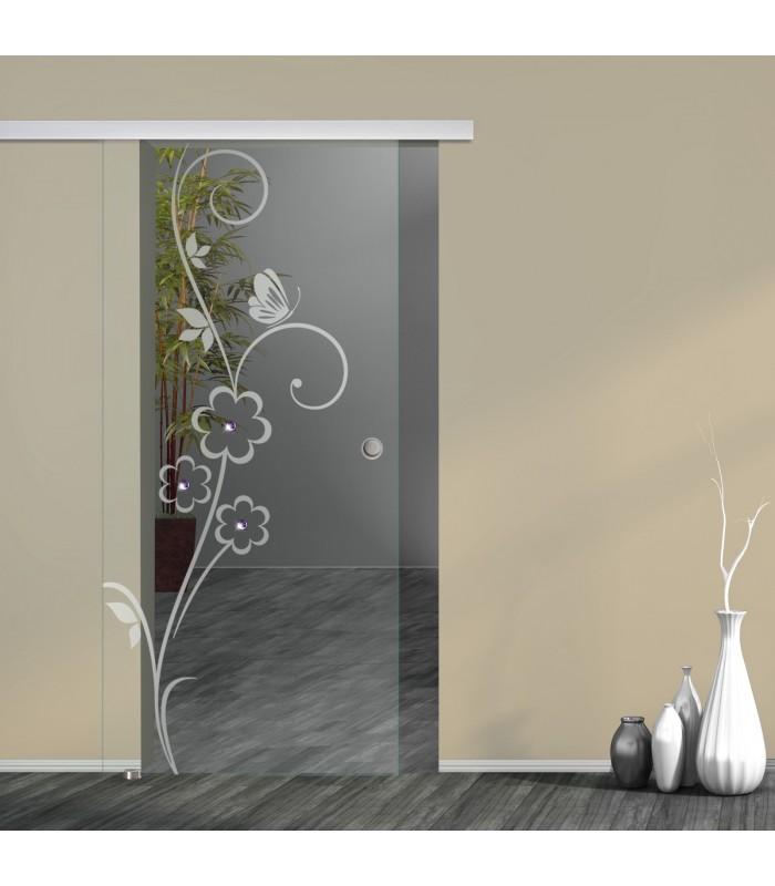 Schiebetür Floral 7005-F mit AG50