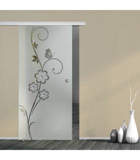 Schiebetür Floral 7005-F2 mit AG50