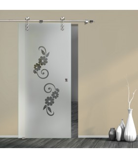 Schiebetür Floral 7004-F2 mit V1000-D
