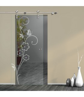 Schiebetür Floral 7005-F mit V1000-D