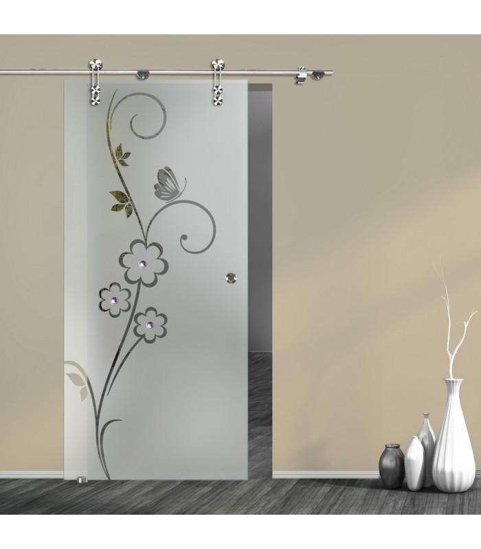 Schiebetür Floral 7005-F2 mit V1000-D