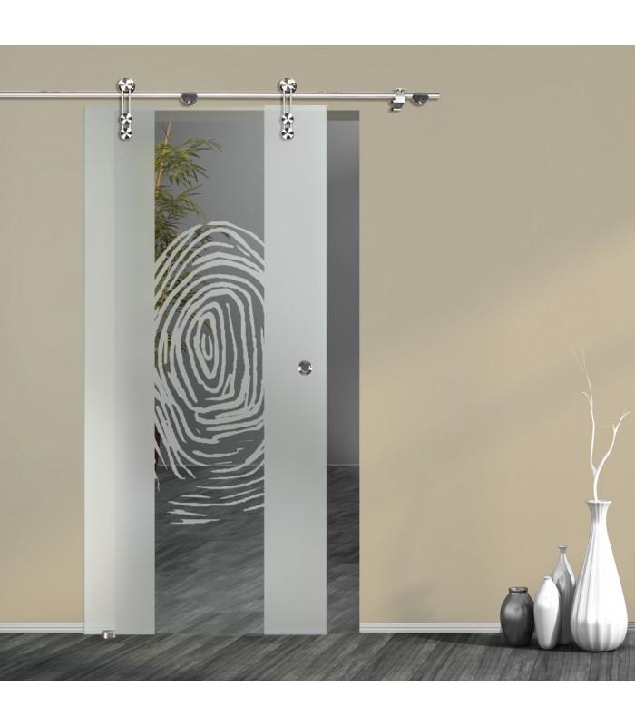 Schiebetür Fingerprint 7006-F mit V1000-D