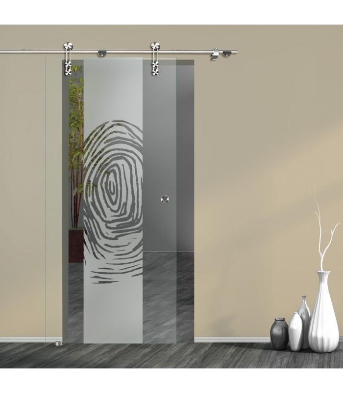 Schiebetür Fingerprint 7006-F2 mit V1000-D