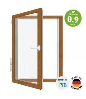 ThermoBlue FE02 Wärmeschutz-Fenster, Eiche gold