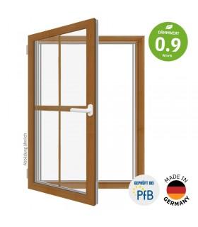 ThermoBlue FE02 Wärmeschutz-Fenster, Eiche, mit Sprossen