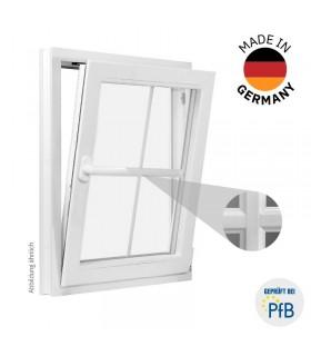 ThermoBlue FE02 Wärmeschutz-Fenster, mit Sprossen